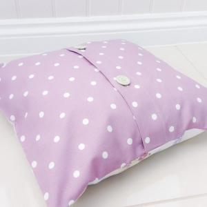 dotty mauve cushion covers