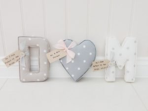 Dotty Smokey Grey ★ Lilymae Designs ★ We offer many items including Fabric Letters, Extra Large Fabric Letters in sizes 22cm tall, 25cm tall, 30cm tall, 40cm tall, 50cm tall and 60cm tall., Fabric Hearts, Butterflies, Stars, Birds, Bunting, Memo Boards, Extra Large Memo Boards, Cushions, Lampshades, Curtains and Roman Blinds Available in any of our Clarke and Clarke and Prestigious Textiles fabrics. Custom fabric letter sizes available on request. Our Extra large fabric letters make great nursery decor, wall decor and home decor in any room. Also great gifts, new baby gift, new baby present baby shower gift baby shower present christening gift christening present little brother little sister niece nephew grandson godson granddaughter goddaughter first birthday gift first birthday present childrens birthday present childrens birthday gift new home gift new home present teacher gift teacher present dinner party gift dinner party present mum present mum gift sister gift sister present first home gift first home present wedding gift wedding present personalised gift personalised present best friends present best friend gift baby boy gift baby girl gift baby boy present baby girl present wedding gift wedding present flowergirl gift flowergirl present page boy gift page boy present bridesmaid present bridesmaid gift rainbow baby gift baby after loss gift tommys charity stillbirth awareness mothers day gift mothers day present mum gift mum present Personalised, handmade and made to order here within the UK Extra Large Fabric Letter Name Sets