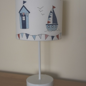 Maritime personalised lampshade beach theme bedroom accessories. made to order and available in many sizes