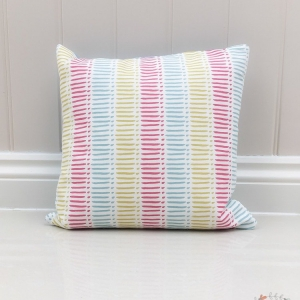 Bright pink, blue and yellow nursery accessories childrens bedroom