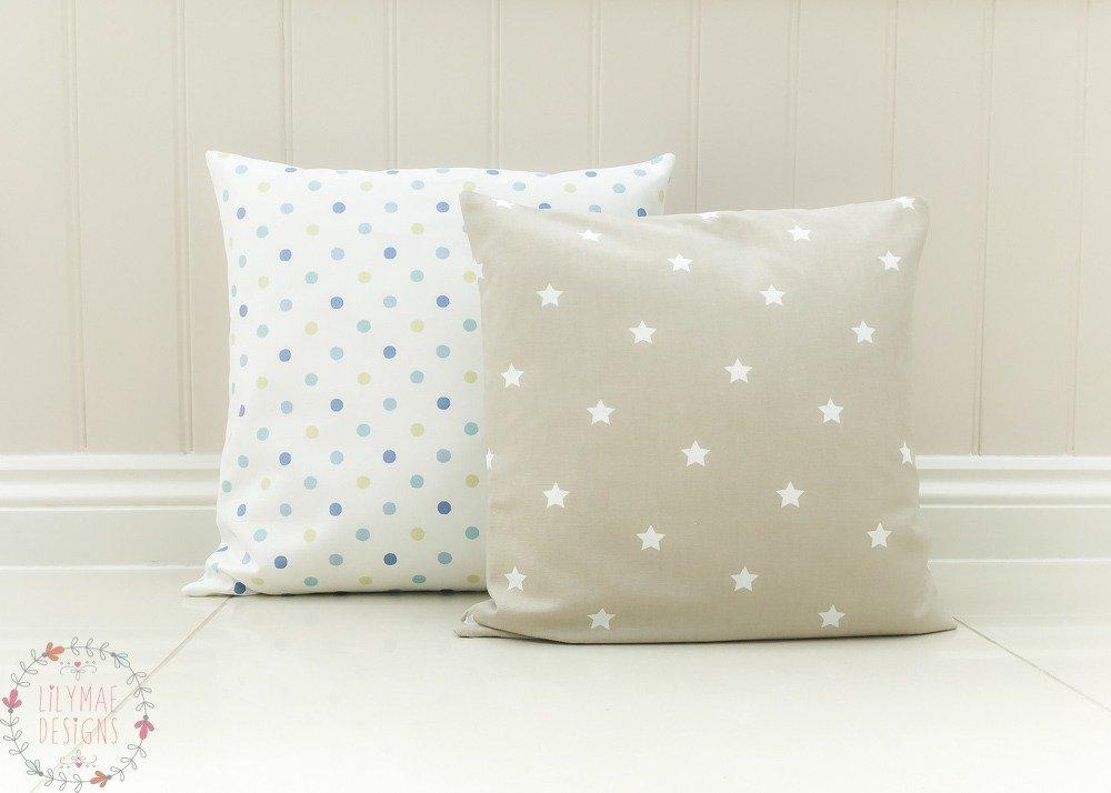 Cushions, Millie Cornflower, Twinkle Oatmeal