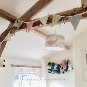 customer reviews of lilymae designs nursery bunting sage green and pink