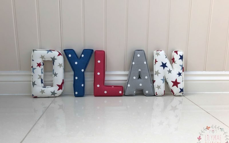 Star fabrics for nursery letters funky star marsons imports navy and red dotty fabrics Dylan fabric wall letters