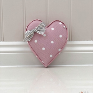 Fabric Hearts Dotty Rose Personalised ideal new home first home present.