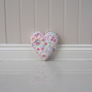 Fabric Hearts in Studio G Fabric Paisley Rose Chintz Fabric. Ideal gift for Teacher, New Home, First Home, Birthday present Gift