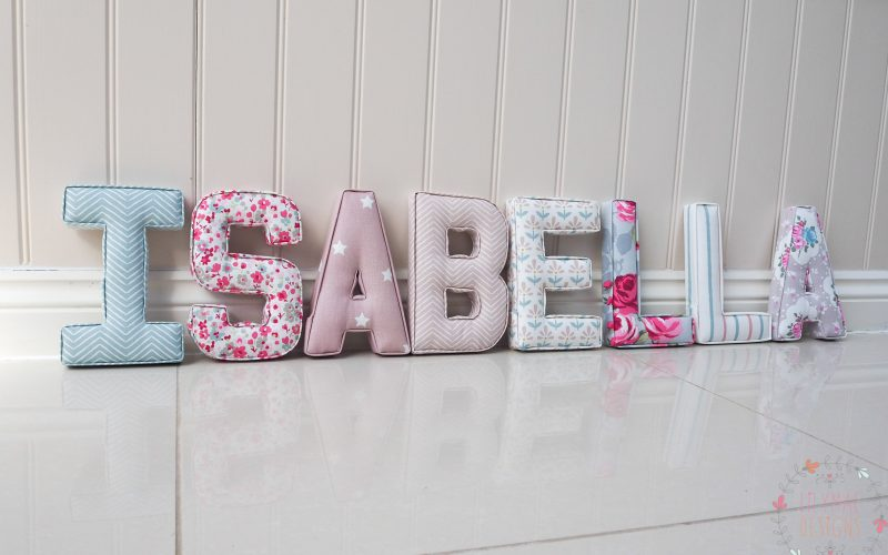 Isabella fabric wall letters lilymae designs