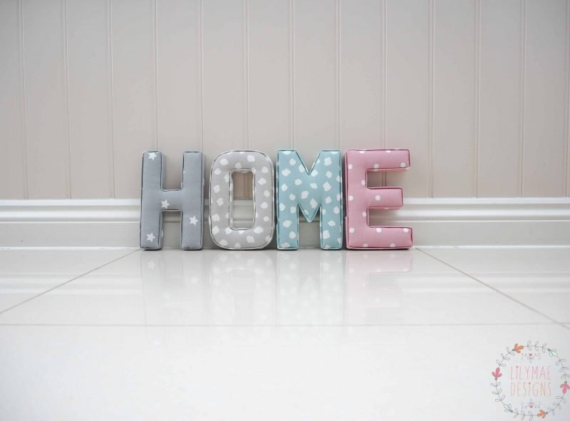 Home Fabric Letters