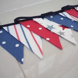Fabric Bunting, choose from over 90 fabrics and custom lengths. Handmade to order! If you have any questions, or need any help with fabrics, please don't hesitate to get in touch! Thank you for supporting our small business 🖤 Samantha & Jaine - Lilymae Designs x