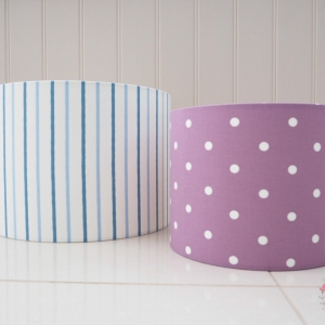 Various size lampshades handmade to order.