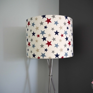 Kids room big lampshade Funky star red