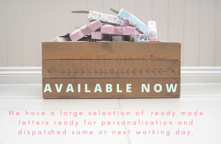 In Stock AVAILABLE NOW READY MADE FABRIC WALL LETTERS PERSONALISED NURSERY LETTERS LILYMAE DESIGNS