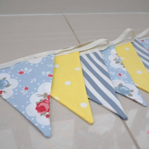 Nursery bunting Blue & yellow girls nursery theme