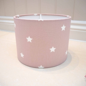 pink star nursery accessories lampshade custom made to order various sizes available