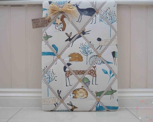deer fabric display kitchen memo notice cork board