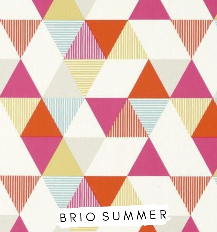 Fabric for letters Brio Summer Fabric Studio G Clarke & Clarke Prestigious Textiles ★ Lilymae Designs ★ Bright colour fabric pinks blues and yellows.
