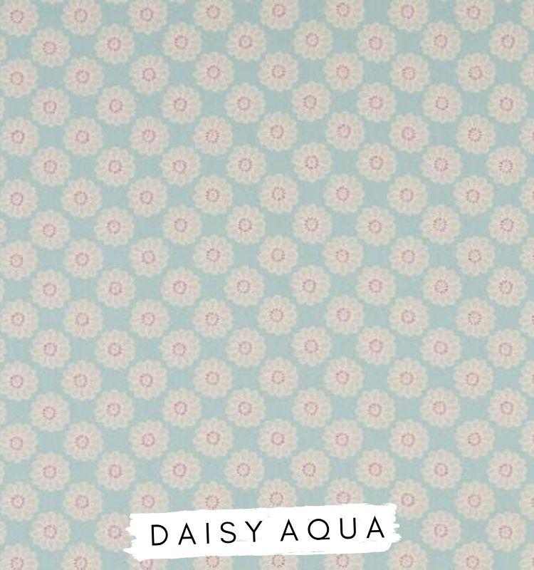 Fabric for letters Daisy Aqua Fabric Fabric Studio G Clarke & Clarke Prestigious Textiles ★ Lilymae Designs ★
