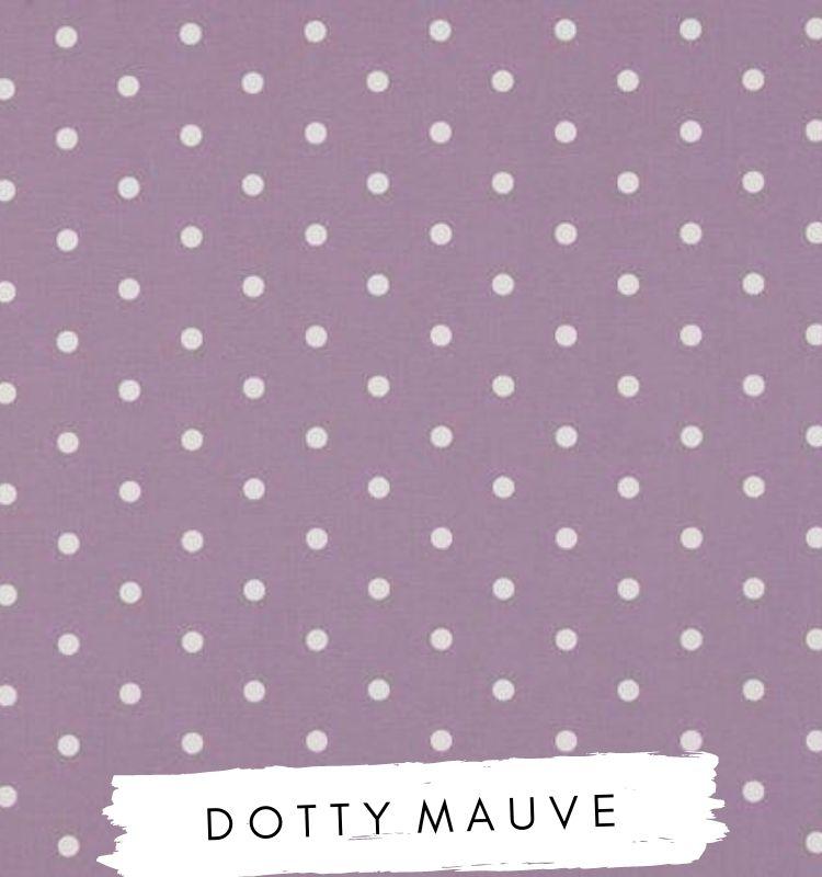 Fabric for letters - Dotty Mauve. Studio G Clarke & Clarke Purple Spotty fabric. Lilymae Designs. Purple nursery.