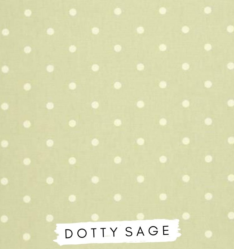 Fabric for letters - dotty sage. Sage fabric with white dots. Studio G Clarke & Clarke Nursery Decor lilymae designs