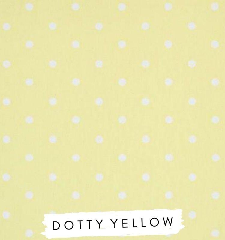 Fabric for letters Dotty Yellow Fabric Studio G Clarke & Clarke Prestigious Textiles ★ Lilymae Designs ★