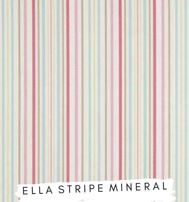 Fabric for letters Ella Stripe Mineral Fabric Studio G Clarke & Clarke Prestigious Textiles ★ Lilymae Designs ★