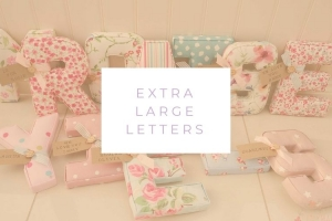 ★ Lilymae Designs ★ We offer many items including Extra Large Fabric Letters in sizes 22cm tall, 25cm tall, 30cm tall, 40cm tall as well as custom sizes on request.Fabric Hearts, Butterflies, Stars, Birds, Bunting, Memo Boards, Extra Large Memo Boards, Cushions, Lampshades, Curtains and Roman Blinds Available in any of our Clarke and Clarke and Prestigious Textiles fabrics. Our personalised custom made to order products make great nursery decor, wall decor and home decor in any room. Also great gifts and presents, new baby, baby shower christening Little brother little sister niece nephew grandson godson granddaughter goddaughter first birthday children's birthday new home teacher dinner party gift mum present sister first home wedding best friends baby boy baby girl flower girl page boy bridesmaid rainbow baby mother's day, Mom, Nan, Auntie, Christmas xmas babys first Christmas daughter son Twins Fraternal Twins Support our small business today, each product is handmade to order here in the UK