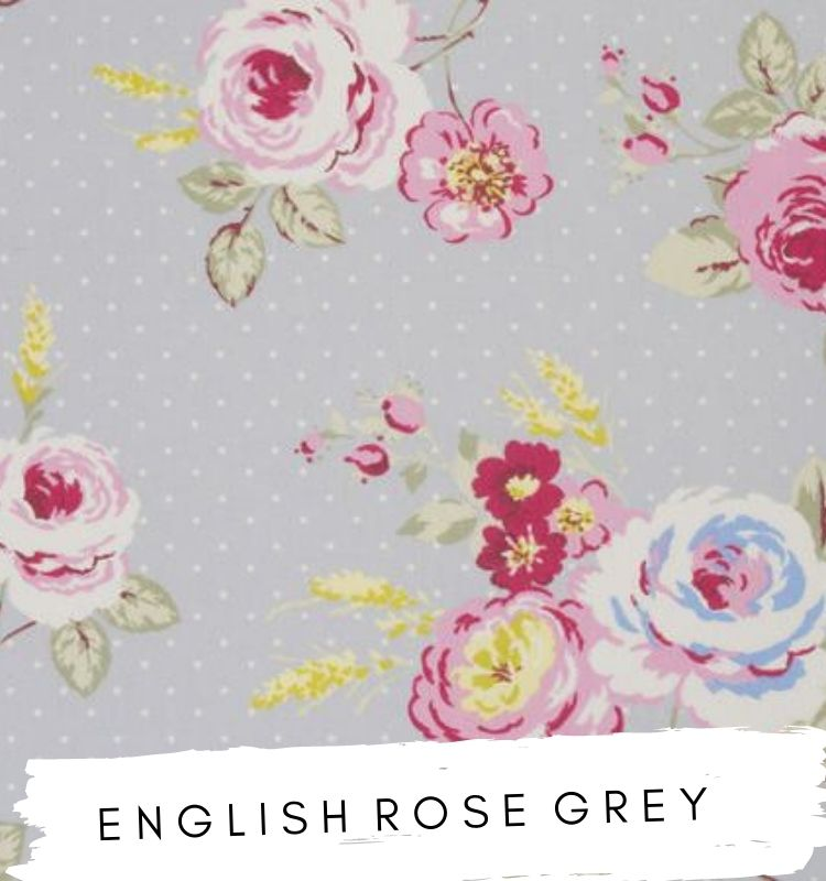English Rose Grey Fabrics Fabric Studio G Clarke & Clarke Prestigious Textiles ★ Lilymae Designs ★