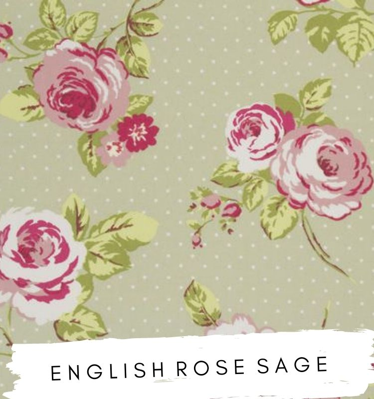 English Rose Sage Fabric Fabric Studio G Clarke & Clarke Prestigious Textiles ★ Lilymae Designs ★