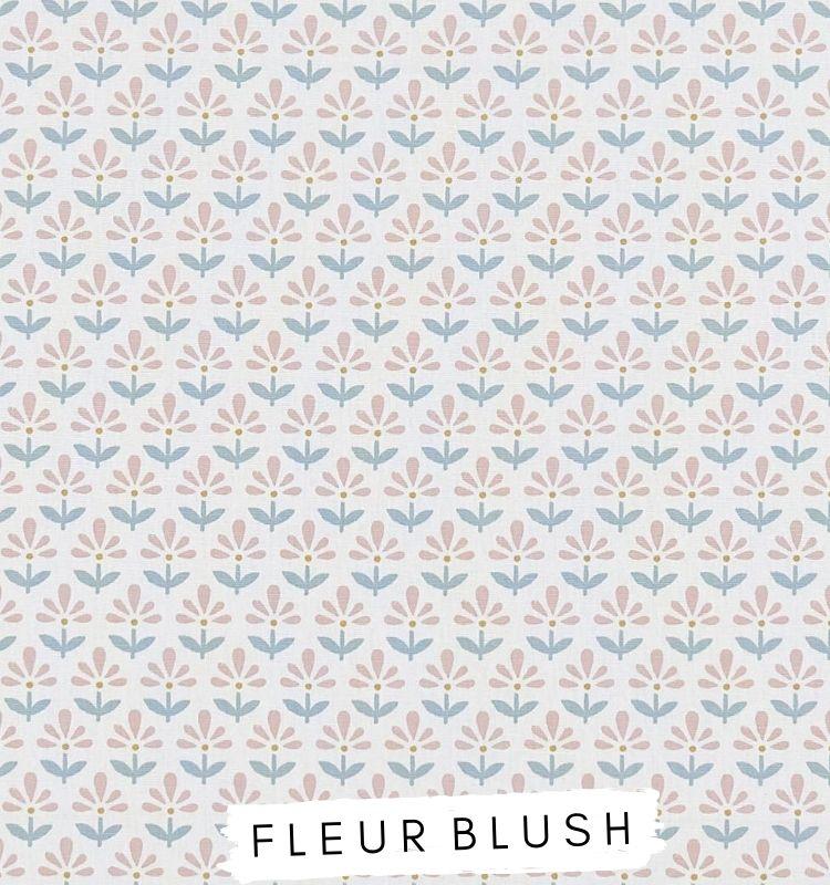 Fabric for letters - Pica Blush Studio G Clarke & Clarke. Pink & Blue floral design. Lilymae Designs