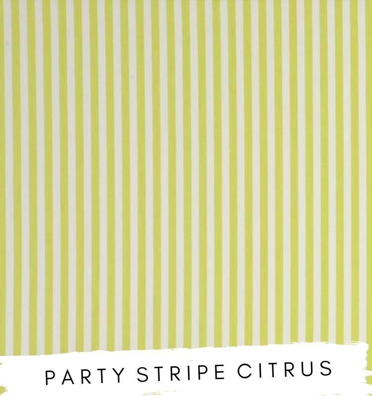 Fabric for letters Party Stripe Citrus Fabric Studio G Clarke & Clarke Prestigious Textiles ★ Lilymae Designs ★