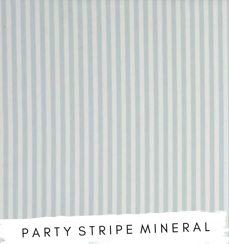 Fabric for letters - Party Stripe Mineral. Studio G White and mineral blue striped fabric Lilymae Designs
