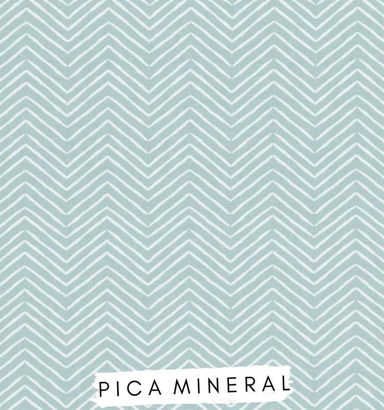 Fabric for letters - Pica Mineral Studio G Clarke & Clarke Mineral blue chevron fabric Lilymae Designs