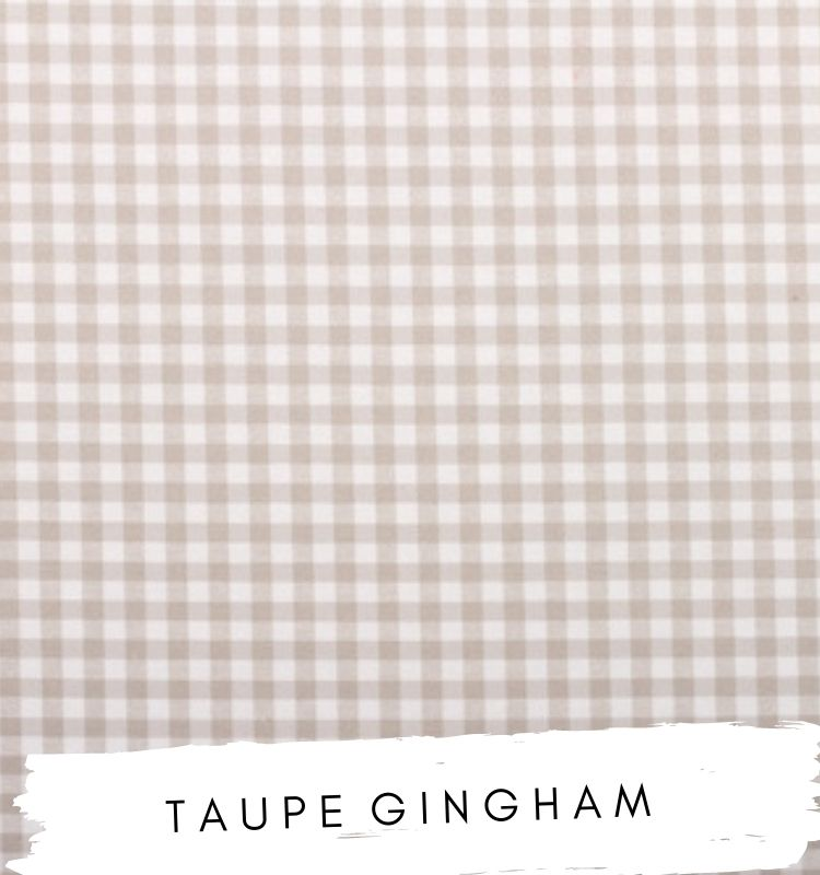 Fabric for letters Taupe Gingham fabric