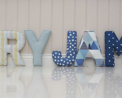 Rory James Fabric Wall letters 30cm Tall ★ Lilymae Designs ★ We offer many items including Extra Large Fabric Letters in sizes 22cm tall, 25cm tall, 30cm tall, 40cm tall as well as custom sizes on request. Fabric Hearts, Butterflies, Stars, Birds, Bunting, Memo Boards, Extra Large Memo Boards, Cushions, Lampshades, Curtains and Roman Blinds Available in any of our Clarke and Clarke and Prestigious Textiles fabrics. Our personalised custom made to order products make great nursery decor, wall decor and home decor in any room. Also great gifts and presents, new baby, baby shower christening Little brother little sister niece nephew grandson godson granddaughter goddaughter first birthday children's birthday new home teacher dinner party gift mum present sister first home wedding best friends baby boy baby girl flower girl page boy bridesmaid rainbow baby mother's day, Mom, Nan, Auntie, Christmas xmas babys first Christmas daughter son Twins Fraternal Twins Support our small business today, each product is handmade to order here in the UK