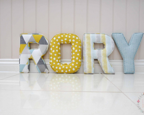 Rory letters Brio mineral, Clio citrus, dash mineral, pica mineral ★ Lilymae Designs ★ We offer many items including Extra Large Fabric Letters in sizes 22cm tall, 25cm tall, 30cm tall, 40cm tall as well as custom sizes on request. Fabric Hearts, Butterflies, Stars, Birds, Bunting, Memo Boards, Extra Large Memo Boards, Cushions, Lampshades, Curtains and Roman Blinds Available in any of our Clarke and Clarke and Prestigious Textiles fabrics. Our personalised custom made to order products make great nursery decor, wall decor and home decor in any room. Also great gifts and presents, new baby, baby shower christening Little brother little sister niece nephew grandson godson granddaughter goddaughter first birthday children's birthday new home teacher dinner party gift mum present sister first home wedding best friends baby boy baby girl flower girl page boy bridesmaid rainbow baby mother's day, Mom, Nan, Auntie, Christmas xmas babys first Christmas daughter son Twins Fraternal Twins Support our small business today, each product is handmade to order here in the UK