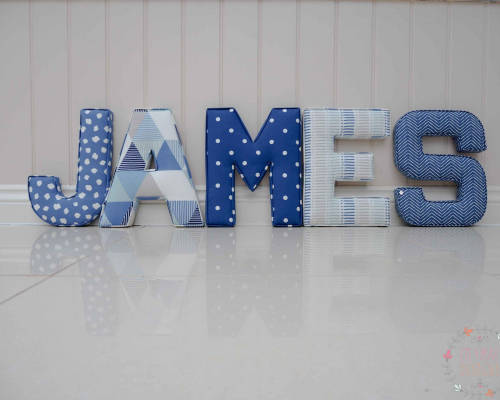 James nursery wall letters ★ Lilymae Designs ★ We offer many items including Extra Large Fabric Letters in sizes 22cm tall, 25cm tall, 30cm tall, 40cm tall as well as custom sizes on request. Fabric Hearts, Butterflies, Stars, Birds, Bunting, Memo Boards, Extra Large Memo Boards, Cushions, Lampshades, Curtains and Roman Blinds Available in any of our Clarke and Clarke and Prestigious Textiles fabrics. Our personalised custom made to order products make great nursery decor, wall decor and home decor in any room. Also great gifts and presents, new baby, baby shower christening Little brother little sister niece nephew grandson godson granddaughter goddaughter first birthday children's birthday new home teacher dinner party gift mum present sister first home wedding best friends baby boy baby girl flower girl page boy bridesmaid rainbow baby mother's day, Mom, Nan, Auntie, Christmas xmas babys first Christmas daughter son Twins Fraternal Twins Support our small business today, each product is handmade to order here in the UK