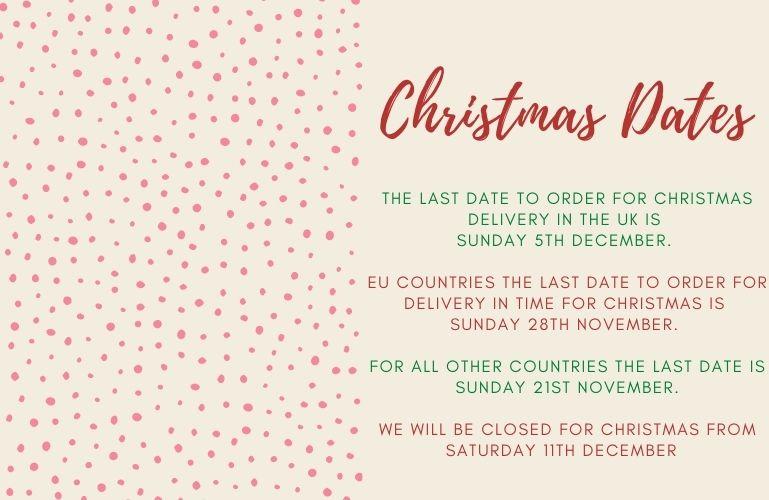 Christmas dates 2021